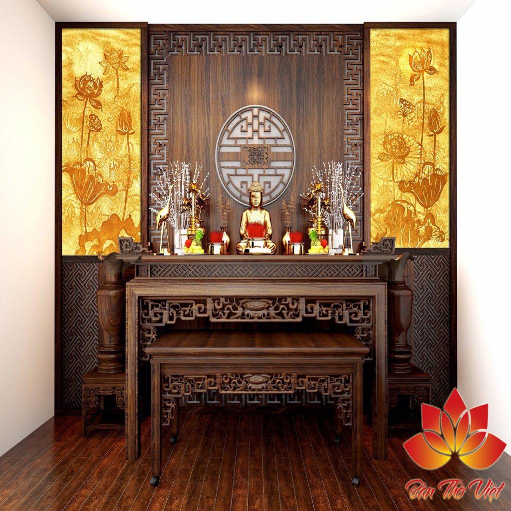 Tổng hợp các mẫu thiết kế phòng thờ Phật đẹp và ấn tượng nhất 2019
