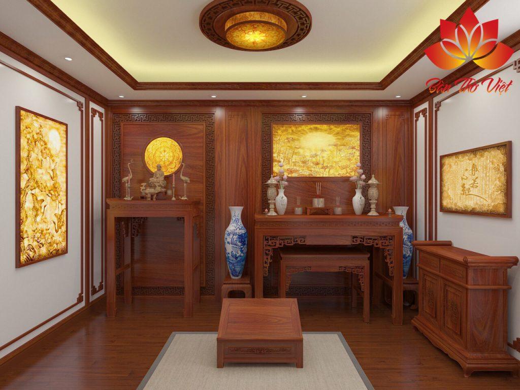 Một số mẫu phòng thờ ba gian đẹp, hợp phong thủy