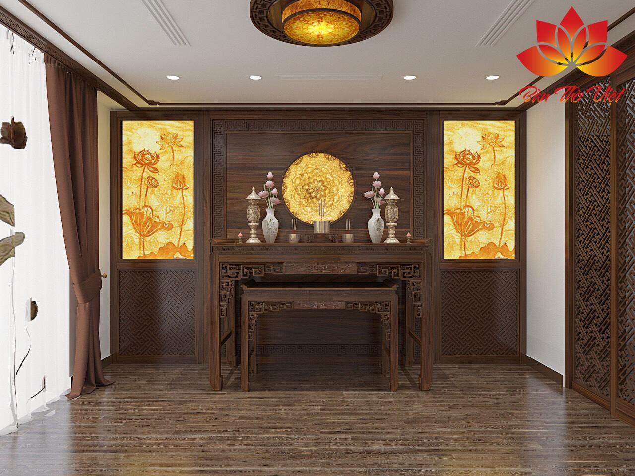 Chiêm ngưỡng những mẫu thiết kế trần phòng thờ đẹp nhất 2019