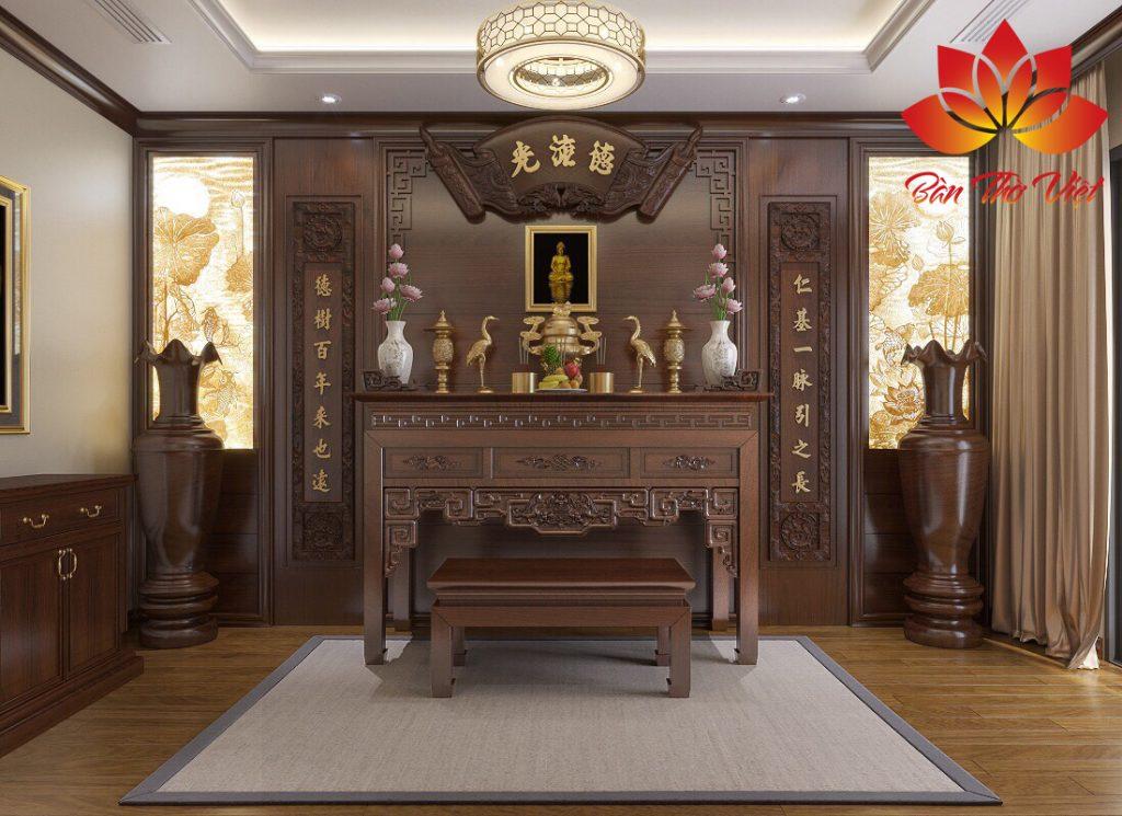 Tổng hợp mẫu thiết kế phòng thờ Phật ấn tượng nhất 2019