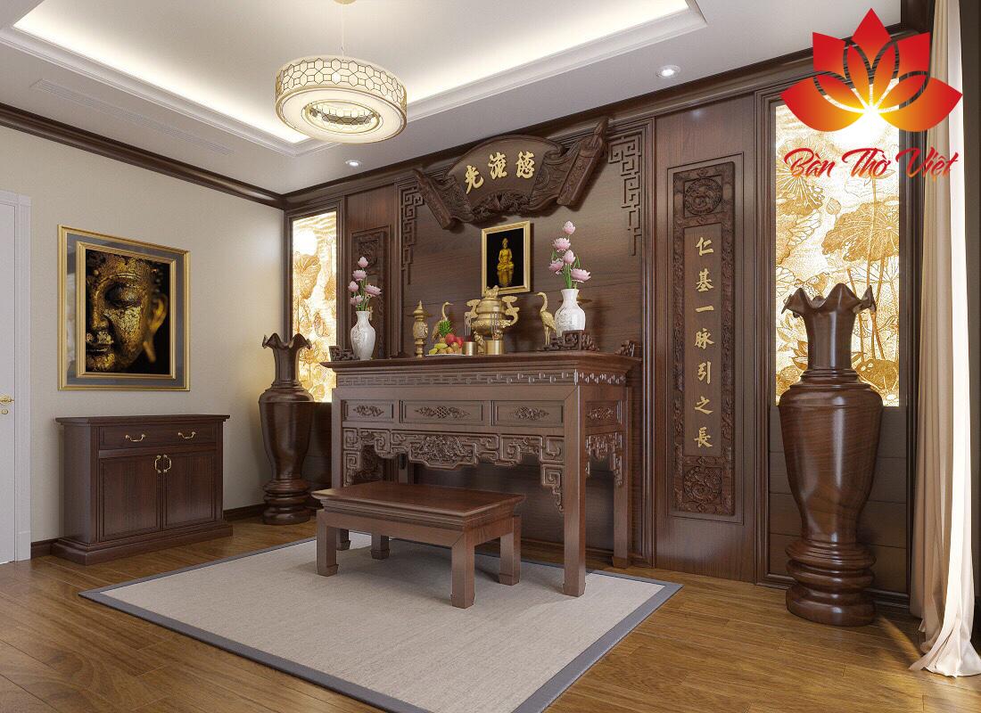 Tóp 5 mẫu thiết kế nội thất phòng thờ đẹp và ấn tượng nhất hiện nay